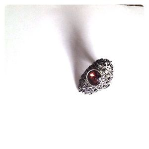 Jewelry - Ruby in Sterling Silver Ring  Size 8